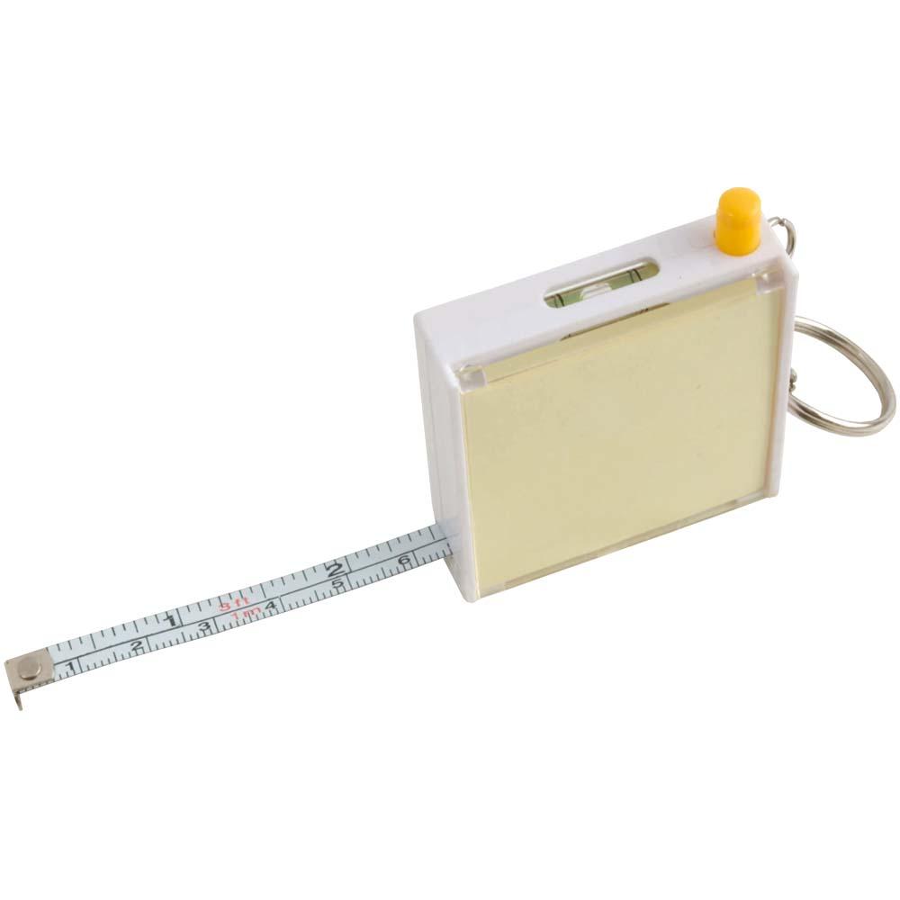 Flessometro 1m con foglietti, penna e portachiavi