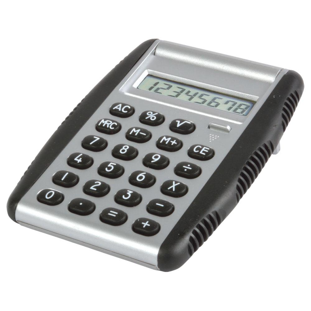 Calcolatrice con impugnatura e tasti in gomma