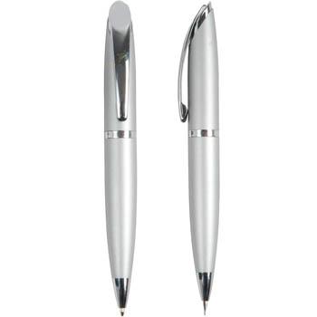 Parure penna a scatto + portamine, in metallo con astuccio