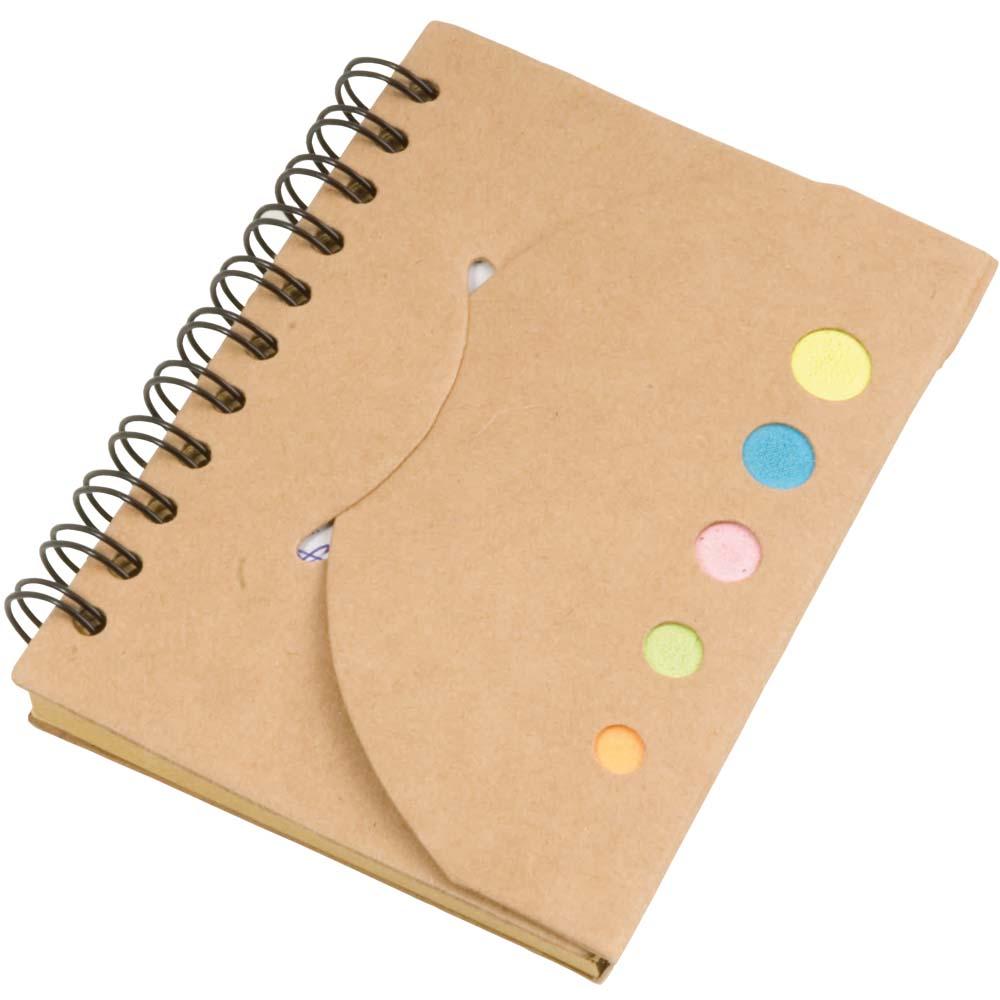 Block notes in carta riciclata con foglietti colorati adesivi
